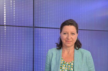 Agnès Buzyn, ministre de la Santé, sur le plateau de l'émission politique de Franceinfo le 21 août 2018.