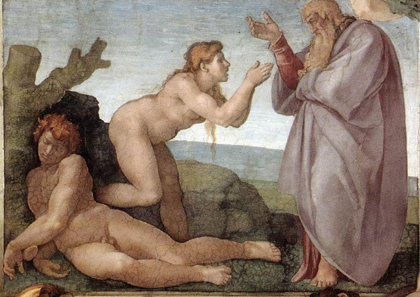 """""""La création d'Eve"""" (1509-1510)"""