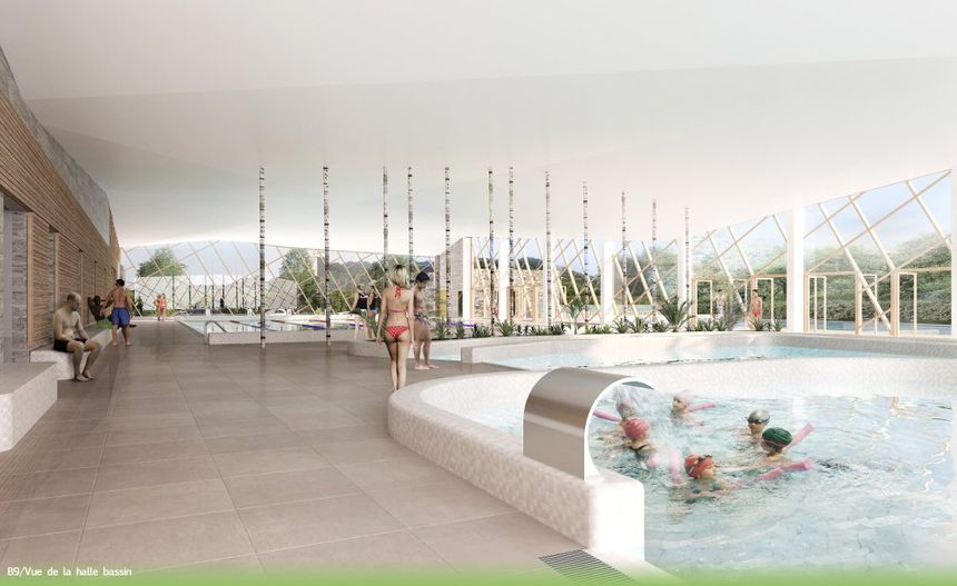 La même piscine de Crest, vue de l'intérieur