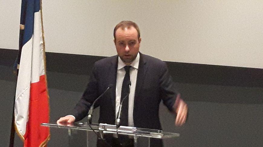 Sébastien Lecornu, secrétaire d'Etat à la transition écologique était à Bure ce jeudi