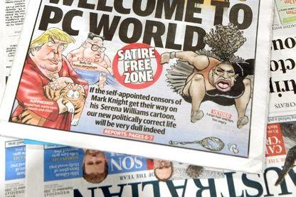 Caricature de Serena Williams dans le journal Herald Sun