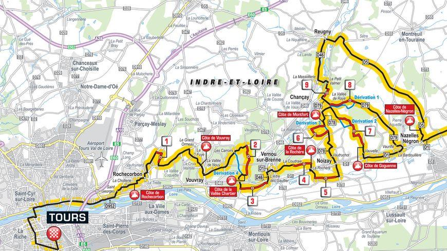 Les derniers kilomètres du Paris-Tours entre Nazelles-Négron et Tours