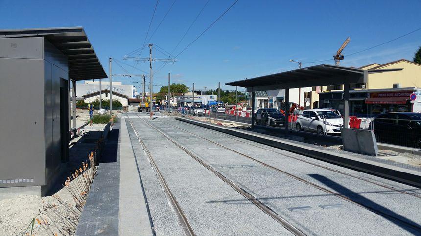 La future station devant la poste de Villenave d'Ornon