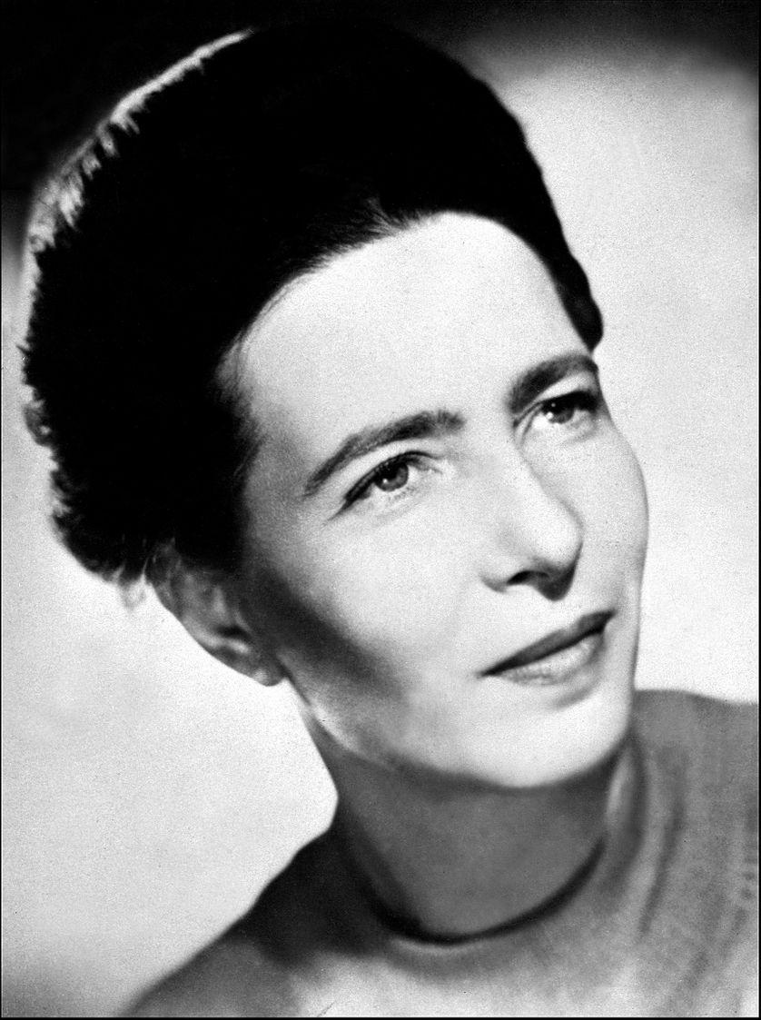 Portrait non daté de Simone de Beauvoir