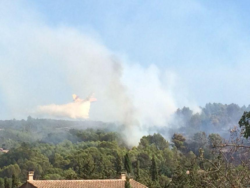 Les canadairs arrosent le feu de Cabrières.