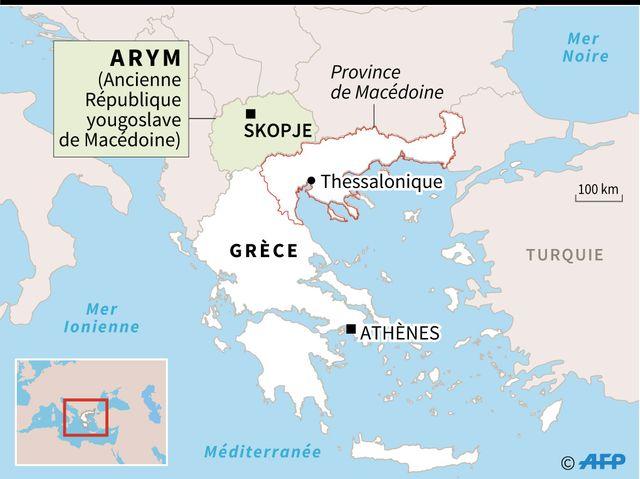 La République ex-yougoslave de Macédoine et la province grecque de Macédoine