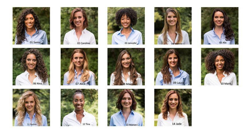Les 14 candidates de la finale régionale de Miss Ile-de-France.