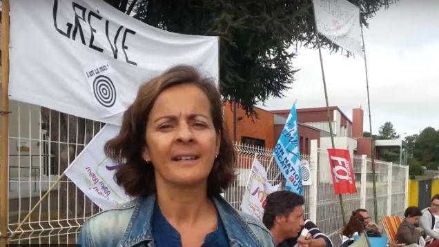 L'infirmière qui faisait la grève de la faim cette semaine pour protester contre les pressions de la direction avait déjà manifesté avec ses collègues le 10 septembre, devant l'Erea.