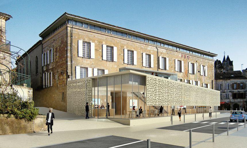 Le projet de la  nouvelle physionomie de la maison des vins de Bergerac