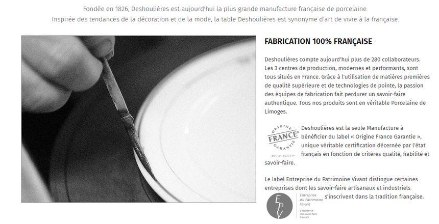 """Avec les critères de l'IG, Deshoulières ne peut plus estampiller toute sa production """"porcelaine de Limoges"""""""