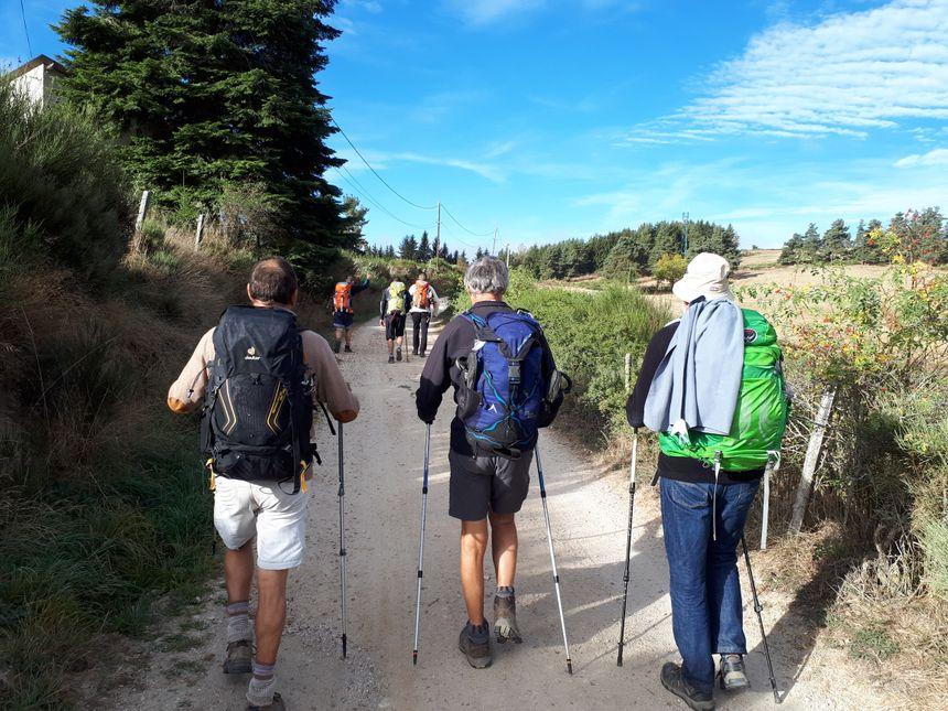 Au programme du jour 20 kilomètres de marche entre à Saint-Alban-sur-Limagnole et Aumont