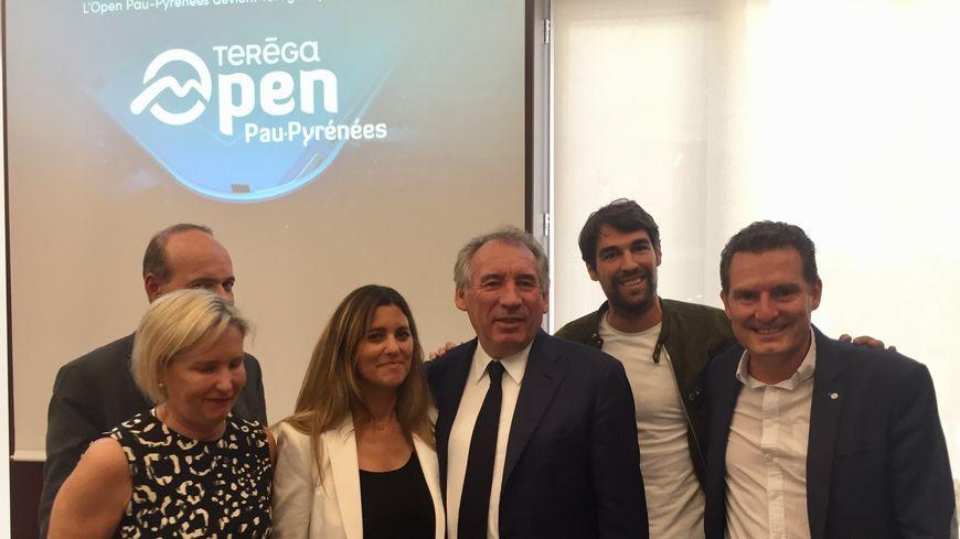 François Bayrou et Jérémy Chardy ont présenté le nouveau tournoi de tennis palois.