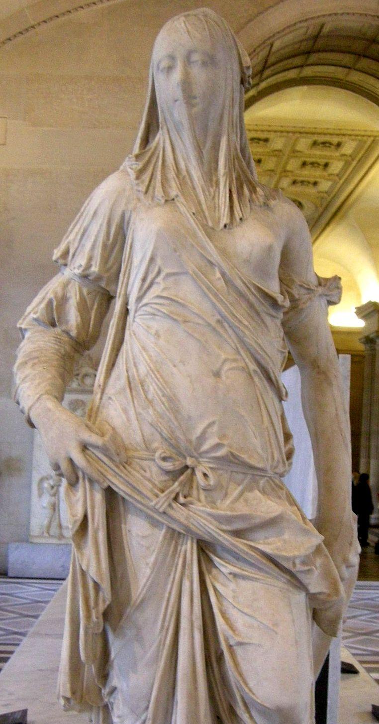 La Femme voilée (Donna velata) d'Antonio Corradini  (1668 - 1752). Musée du Louvre