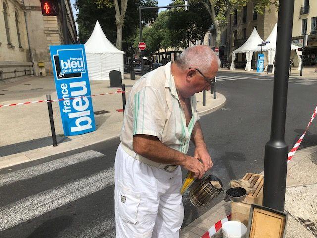La préparation minutieuse d'Alain Laurent avant l'intervention.