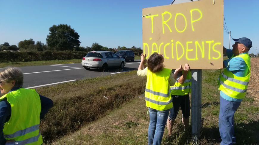 Les riverains protestent contre les nombreux accidents