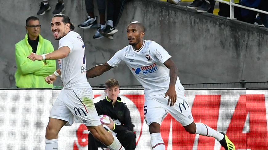 Enzo Crivelli a marqué à Dijon son deuxième but de la saison pour Caen.