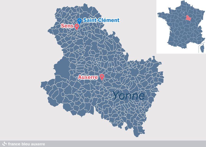 Saint-Clément, près de Sens, dans l'Yonne