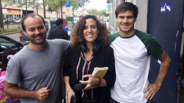 Caroline Gillet entourée de Cédric Henet et Ferdy