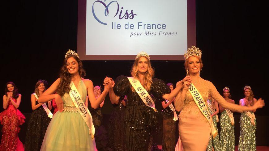 Alice Querette, au centre, est élue Miss Ile-de-France 2018