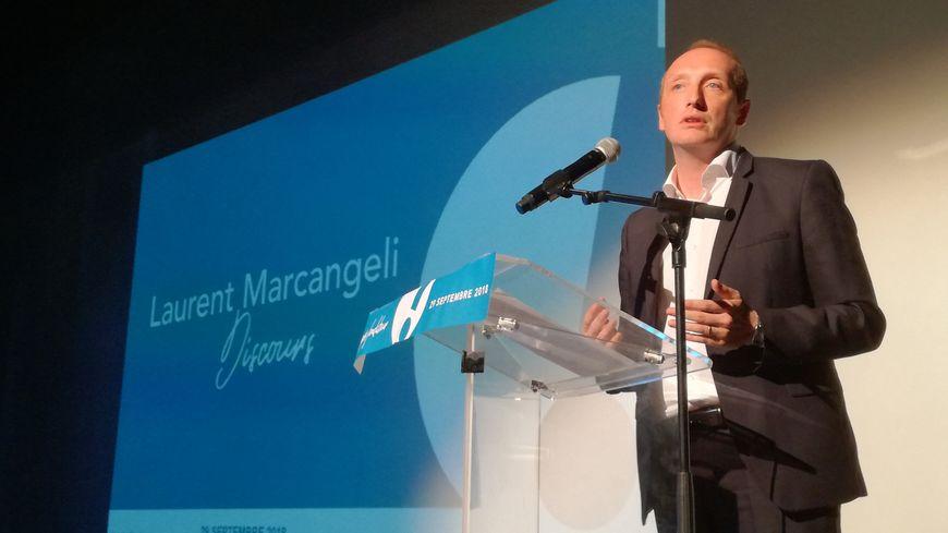 """Laurent Marcangeli, le 29 septembre 2018 pour le lancement d'""""Ajaccio! Le Mouvement"""""""