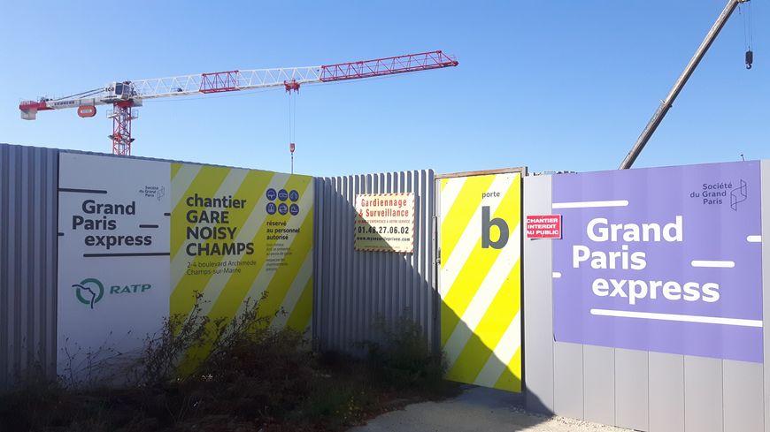 Après deux ans de travaux, le chantier de l'arrière-gare de Noisy-Champs est aujourd'hui le plus avancé du Grand Paris Express