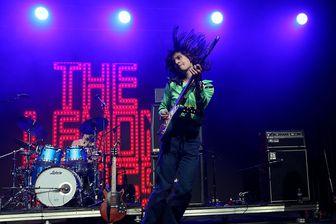 Le duo américain The Lemon Twigs, formé par les frères Brian et Michael D'Addario, en concert en juin 2017 lors du Bonnaroo Music & Arts Festival de Manchester (Tennessee)