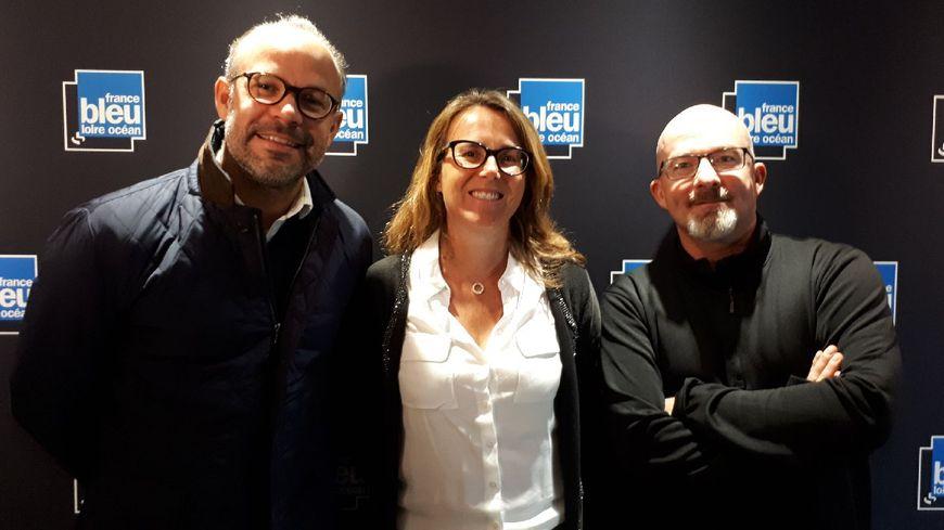 Gilles Colliaux avec Jean Charles Veyrac et Marie Denis Noujaim de la Chambre des Notaires de Loire-Atlantique.