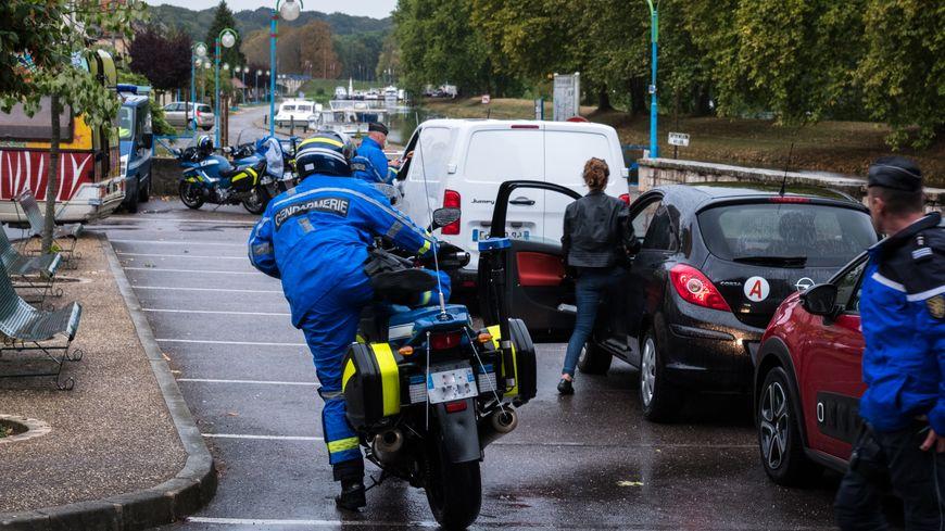 Contrôles routiers effectués par la gendarmerie de Haute-Saône sur l'utilisation du téléphone au volant.