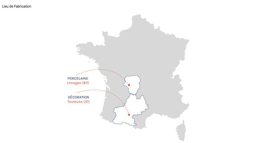 """Le site boutique.elysee.fr laisse entendre que les mugs sont en """"Porcelaine de Limoges"""""""