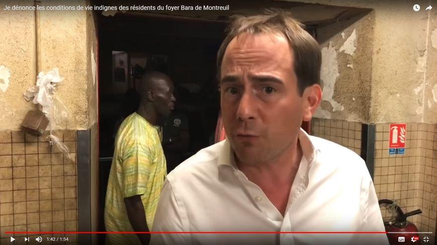 Patrice Bessac a publié une vidéo pour dénoncer les conditions de vie dans le foyer Bara de Montreuil