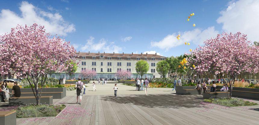 De chaque côté de la future place de Latour-Maubourg seront disposés deux parkings de 100 places chacun.