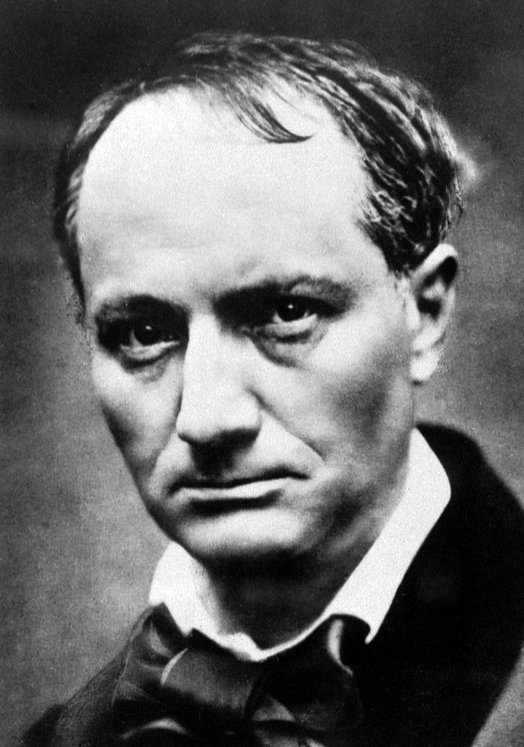 Charles Baudelaire (1821-1867), photo de Carjat.
