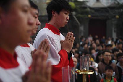 Célébration de Pâques dans la cathédrale « patriotique» de Pékin, mars 2018.