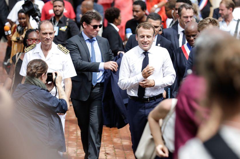 Emmanuel Macron à Saint-Pierre en Martinique, le 27 septembre 2018