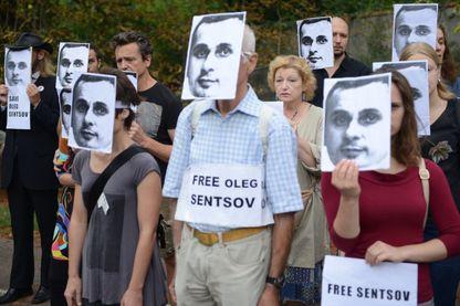 Une manifestation de soutien à Oleg Sentsov à Prague en mai dernier