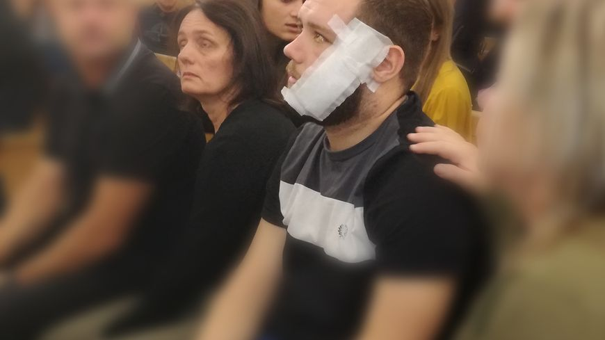 La victime , Cyril Betti, présente ce matin à l'audience au palais de justice d'Ajaccio