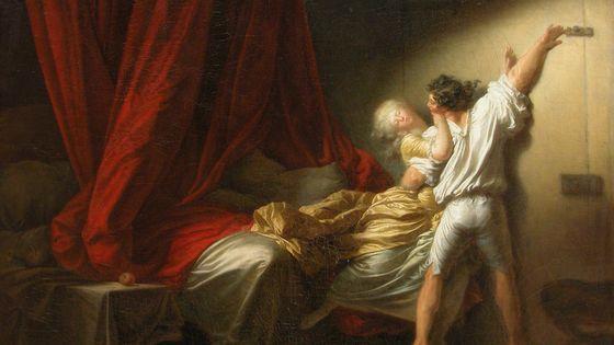 Jean-Honoré Fragonard Le Verrou 1777 Huile sur toile Paris, Musée du Louvre