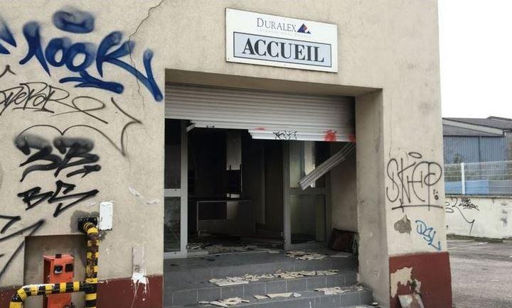 L'entrée de l'ancienne usine Duralex