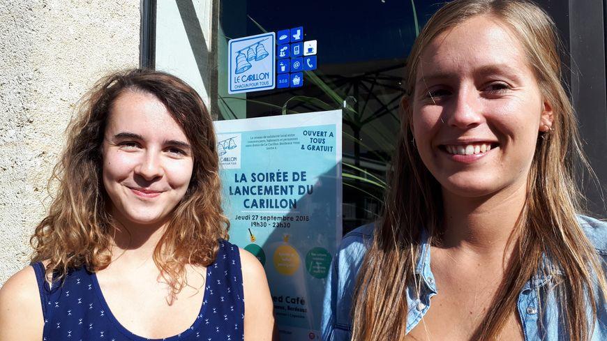 Leslie Rialhe et Mathilde Beauvois sont à l'initiative du réseau de solidarité Carillon à Bordeaux en faveur des sdf
