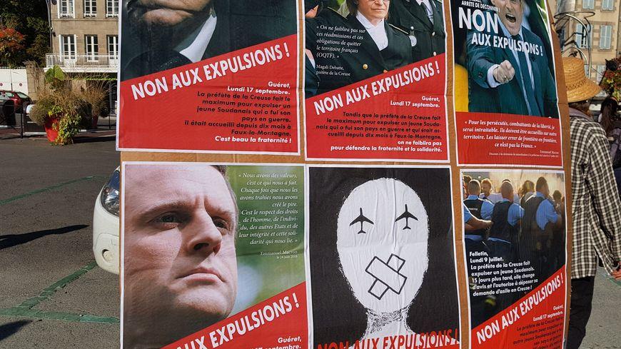 La préfète de la Creuse et les responsables politiques nationaux sont pris pour cibles.