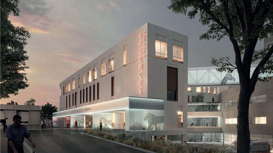 Le nouveau bâtiment des urgences pédiatriques de l'hôpital Pellegrin de Bordeaux livrable en 2021