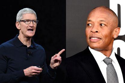 Tim Cook (à gauche) et Dr. Dre (à droite)