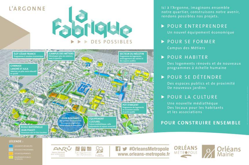 Plan général du programme de rénovation urbaine de l'Argonne