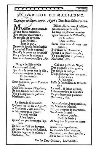 Paroles de la chanson La Garison de Marianna