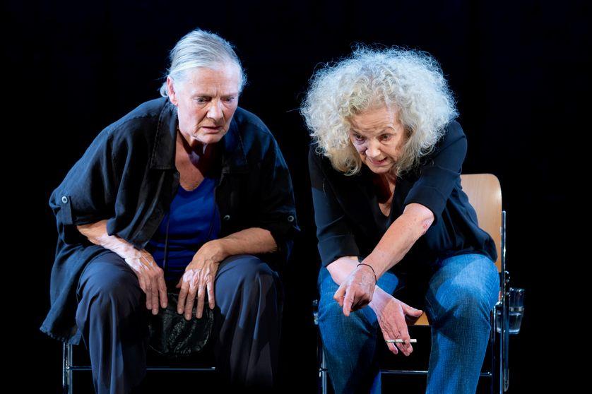 """Catherine Hiegel (à droite) dans """"La nostalgie des blattes"""" de Pierre Notte"""
