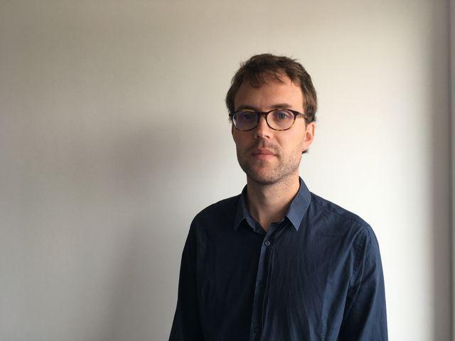 Le journaliste Simon Gouin