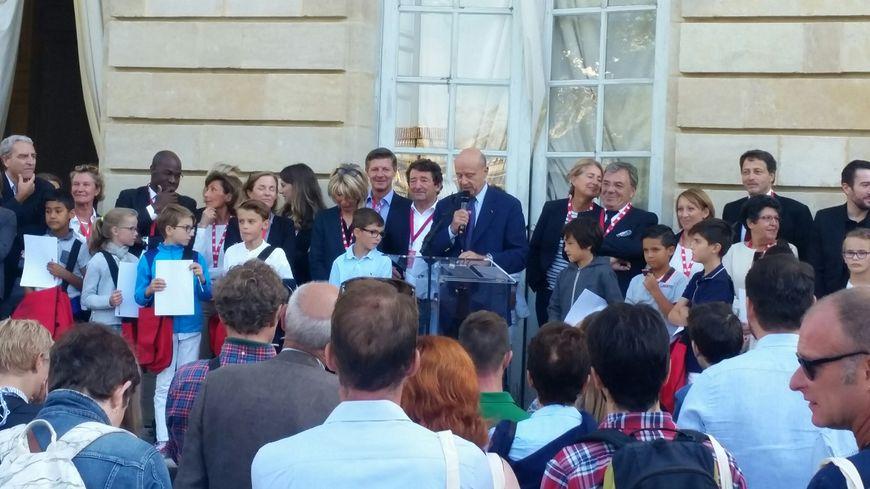 Alain Juppé accueille au Palais Rohan les néo-bordelais