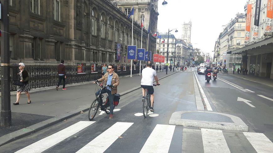 A l'automne 2019, la piste cyclable de la rue de Rivoli permettra de rallier la place de la Bastille à la Concorde