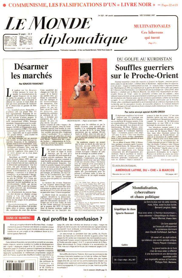 Une du Monde diplomatique, décembre 1997
