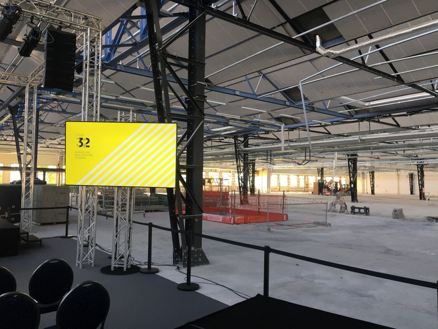 Le chantier du Hall 32 s'achèvera dans un an